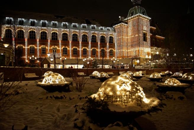 Tivoli-H.C. Andersen Slottet i sne under Jul i Tivoli-1306