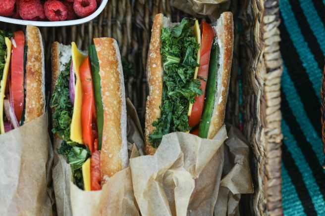 three sandwiches